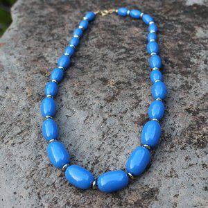 [5/$25] Vintage Blue retro Necklace
